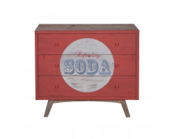 Vintage 50's Commode SODA 3 Drawers