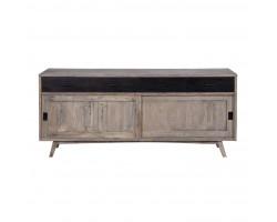 Vintage 50's Cabinet  2 Pintu Geser 4 Laci