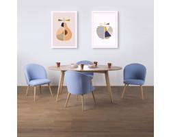 Kiruna Meja Makan Oval dan Vaberg Set